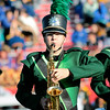 STACEY DIAMOND | THE GOSHEN NEWS<br /> Eric Sommers of the Northridge Raider Band performs Saturday during the Class B semistate competition.