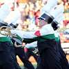 STACEY DIAMOND | THE GOSHEN NEWS<br /> Alex Gearhart of Concord High School's Marching Minutemen performs Saturday during the Class B semistate contest.