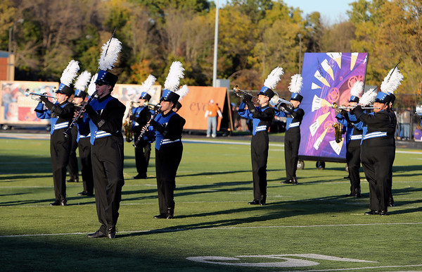 PHOTO CONTRIBUTED | PHOTOGRAPHY BY BATEMAN<br /> Members of the Fairfield Marching Pride perform Saturday during the Class C semistate competition.