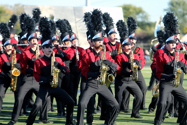 PHOTO CONTRIBUTED | PHOTOGRAPHY BY BATEMAN<br /> Members of the NorthWood Red Regiment perform Saturday during the Class C semistate competition.