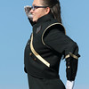 STACEY DIAMOND | THE GOSHEN NEWS<br /> Mandi Maul of the Wawasee High School Marching Warrior Pride performs Saturday during the Class B semistate competition.