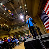 KRISTOPHER RADDER — BRATTLEBORO REFORMER<br /> Democratic presidential candidate Sen. Elizabeth Warren, D-Mass., visits Keene State College during a campaign visit on Saturday, April 20, 2019. Warren told the audience that she has pressed Congress to take up articles of impeachment against President Donald Trump. She also talked about ending lobbyist and make anyone running for a federal office to release their tax returns. Warren also talked about strengthening worker unions.