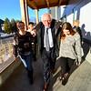KRISTOPHER RADDER - BRATTLEBORO REFORMER <br /> United States Sen. Bernie Sanders walks into the Red Clover Commons, in Brattleboro, Vt., alongside Deja Chase, 14, of Brattleboro, on Friday, Jan. 26, 2018.