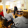 KRISTOPHER RADDER - BRATTLEBORO REFORMER <br /> United States Sen. Bernie Sanders visited Brattleboro Town School District's Early Education Services and Red Clover Commons on Friday, Jan. 26, 2018.