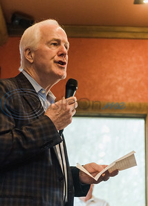 Senator John Cornyn encourages community members to get out and vote during a Republican voting rally on Super Tuesday, March 3, 2020, at Texas City Music in Tyler.