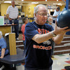 "Bill Adkins, 74, aims the ball down the lane during a senior bowling league on Monday, Oct. 15, at Chipper Lanes in Broomfield. For more photos and video of the bowling league go to  <a href=""http://www.dailycamera.com"">http://www.dailycamera.com</a><br />  Jeremy Papasso/ Camera"