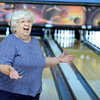 "Martha Neish, 81, of Broomfield, celebrates a spare during a senior bowling league on Monday, Oct. 15, at Chipper Lanes in Broomfield. For more photos and video of the bowling league go to  <a href=""http://www.dailycamera.com"">http://www.dailycamera.com</a><br />  Jeremy Papasso/ Camera"