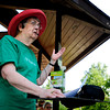 "Joyce Davies, of Frasier Meadows Retirement Community, speaks before Members of Frasier Meadows and citizens of Boulder Friday morning. Members of Frasier Meadows held a senior sit-in at Admiral Arleigh A Burke Park in order to protest against the city's plan to let the lake return to it's natural level. August 10, 2012. Rachel Woolf/ For the Daily Camera. For more photos and a video of the sit-in, go to  <a href=""http://www.dailycamera.com"">http://www.dailycamera.com</a>."