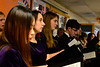 KRISTOPHER RADDER - BRATTLEBORO REFORMER<br /> Members of the Bellows Falls Choir  sing to people during a Seniors Holiday Dinner that was sponsored by U.S. Senator Bernie Sanders on Thursday, Dec. 15, 2016.