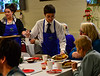 KRISTOPHER RADDER - BRATTLEBORO REFORMER<br /> Students from Leland & Gray High School hand out meals during a Seniors Holiday Dinner that was sponsored by U.S. Senator Bernie Sanders on Thursday, Dec. 15, 2016.