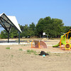 The structures have been built at Heritage Trail Park, at the intersection of County Roads 400 South and 875 East. The completion of the park will extend the Rail Trail about one-quarter mile. Several projects around the county are underway to extend the Heritage Farm Trail throughout the entire county.