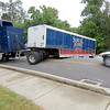 "A Samuel Adams delivery truck was not able to complete the turn Thursday morning, Sept. 12, from Turkeyfoot Road onto Mulberry Street. Zionsville Police Sgt. Joe Robinson said this was the second or third time a semi has not been able to navigate the turn. ""It's a pretty sharp angle,"" he said. ""They don't get it until they're in it."""