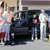 Photo submitted<br /> Arc of Greater Boone County clients who use the van in background for transportation to work and other events include (from left) Ben Begley, Bryan Taft, Allen Flack, Pam Everhart, Larry Garrett, Becky Gilliam and Bill Staton.