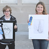 "Blue Ribbon Winners of Child Division Blue Ribbon Student Winner, Mackenzie Sherman, ""Self Portrait""<br /> Blue Ribbon Child Winner, Sarah Huse, ""Ice Cream Cone""<br /> (Not Pictured), Emberlynn Hoskins-Sprague, ""The Rainbow"""
