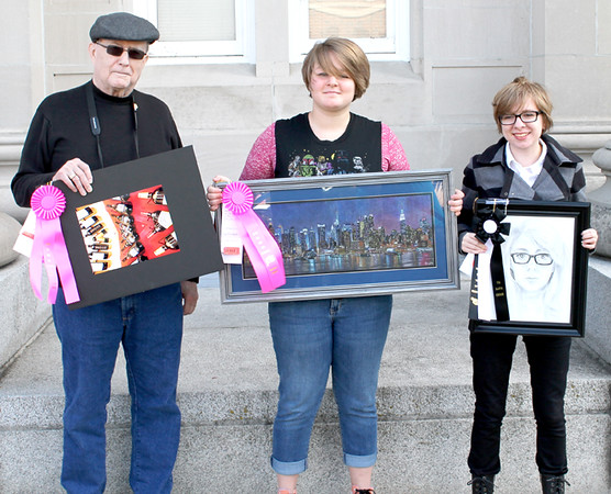 "Special Awards<br /> Adult Mayor's Choice Winner, S. Alyn McConaha, ""After 3 Bottles""<br /> Student Mayor's Choice Winner, Marie Dickison, ""New York City Skyline""<br /> Tri Kappa Winner, Mackenzie Sherman, ""Self Portrait"""