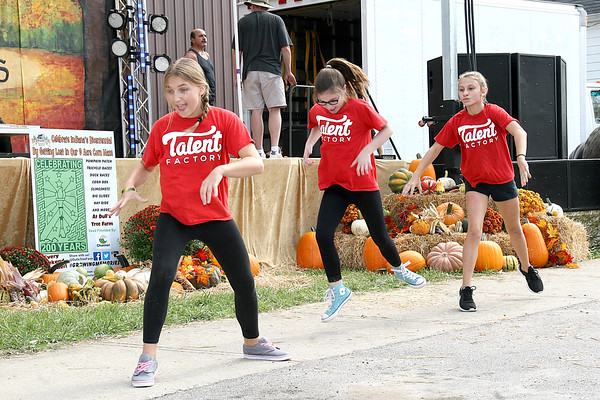 Rod Rose The Lebanon Reporter<br /> DANCE, DANCE, DANCE: Performers from The Talent Factory in Lebanon entertain the crowd with a dance routine during Saturday's Festival of The Turning Leaves events in Thorntown.