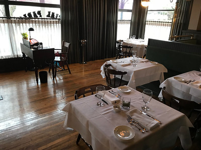 NATHAN HAVENNER / GAZETTE  Serenite Restaurant and Culinary Institute, 538 W. Liberty St., Medina, celebrated its grand opening Thursday evening. The institute teaches members of the recovery community the skills needed to work in a fine-dining restaurant.