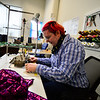 KRISTOPHER RADDER — BRATTLEBORO REFORMER<br /> Eli K Coughlin-Galbraith, co-owner of Shapeshifters, uses a sewing machine while creating the seams of a chest binder on Wednesday, Dec. 12, 2018.