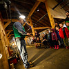 KRISTOPHER RADDER - BRATTLEBORO REFORMER<br /> Andy Rice, of Halifax, Vt., demonstrates how to shear a sheep to a group of children at the Retreat Farm on Thursday, Feb. 22, 2018.