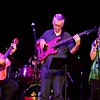 BEN GARVER — THE BERKSHIRE EAGLE<br /> Robert Putnam plays bass for Shenandoah With David Grover (left) and Carol Ide. Putnam joined the band in 1980. Shenandoah, in various forms through the years, has been playing with Arlo Guthrie since 1975.