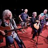 BEN GARVER — THE BERKSHIRE EAGLE<br /> Arlo Guthrie, Steve Ide, David Grover and Robert Putnam walk through a sound check before a Shenandoah concert at the Guthrie Center in Great Barrington.  Shenandoah, in various forms through the years, has been playing with Guthrie since 1975.
