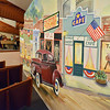 Murals on the walls for  Saturday's performance of Hometown Memories a Shepard of Love Fellowship melodrama dinner theater production .<br /> August 11, 2012<br /> staff photo/ David R. Jennings