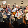 "A ""local"" band plays for Betty Jo's radio show during Saturday's performance of Hometown Memories a Shepard of Love Fellowship melodrama dinner theater production .<br /> August 11, 2012<br /> staff photo/ David R. Jennings"