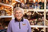 Shirley Squires stands among the 1600 (or so) nativity scenes she's collected over the years.  KELLY FLETCHER, REFORMER CORRESPONDENT