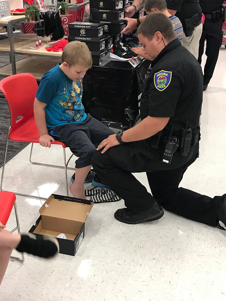 Shop with a Cop for back to school
