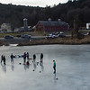 KRISTOPHER RADDER — BRATTLEBORO REFORMER<br /> People head to the Retreat Meadows on Wednesday, Jan. 2, 2019 to enjoy various winter activities like ice skating and fishing.