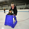 KRISTOPHER RADDER — BRATTLEBORO REFORMER<br /> Jordan Senecal, of Jacksonville, Vt., helps her 3-year-old son, David, at Nelson Withington Skating Facility during Last Night Brattleboro on Tuesday, Dec. 31, 2019.