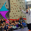 KRISTOPHER RADDER - BRATTLEBORO REFORMER<br /> Dr. Quinton Quark flies a kite using thrust inside the gymnasium at Academy School.