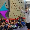 KRISTOPHER RADDER - BRATTLEBORO REFORMER<br /> Dr. Quinton Quark flies a kite using thrust inside the gymnasium at Academy School.