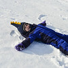KRISTOPHER RADDER - BRATTLEBORO REFORMER<br /> Hazel Paris, 3, of Putney, makes a snow angel.