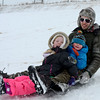 "Cameron, left, Mallory, and Travis Gahn take off down the hill for a day of sledding near Sunset Middle School on Sunday Feb. 24, 2013. <br /> For more photos sledding, go to  <a href=""http://www.timescall.com"">http://www.timescall.com</a>.<br /> Cliff Grassmick / February 24, 2013"