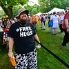 KRISTOPHER RADDER - BRATTLEBORO REFORMER<br /> Scott Kaltenbaugh, of Brattleboro, gives out free hugs during the Slow Living Expo on Saturday, June 2, 2018.