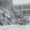 KRISTOPHER RADDER - BRATTLEBORO REFORMER<br /> A snowplow makes the way down on Rt. 140 during Thursday's snowstorm.
