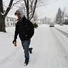 KRISTOPHER RADDER - BRATTLEBORO REFORMER <br /> Noah Coburn walk down West Street.