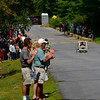 KRISTOPHER RADDER - BRATTLEBORO REFORMER<br /> People gather on  John Seitz Drive to watch the 8th annual Soapbox Derby on Sunday, Aug. 27, 2017.