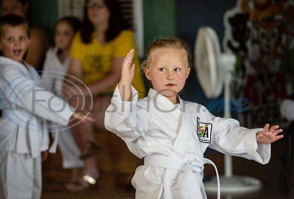 Charlie Ward, 4, trains in Taekwondo in the Tiny Tigers class at Songahm Martial Arts Academy in Tyler on July 1, 2020.