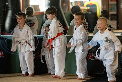 Students participate in the Tiny Tigers class at Songahm Martial Arts Academy in Tyler on July 1, 2020.