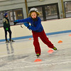KRISTOPHER RADDER - BRATTLEBORO REFORMER<br /> Silas Wickenden, 9, maneuvers through the cones while speed skating at Nelson Withington Skating Facility on Sunday, Feb. 4, 2018.