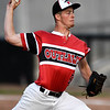 Joplin starter Tyler McGrew throws from the mound during the Outlaws home opener on Friday night at Joe Becker Stadium.<br /> Globe | Laurie Sisk