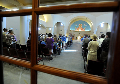 People listen to the sermon on Sunday at the St. Luke Orthodox Christian Church. For more photos of the church, go to www.dailycamera.com. Cliff Grassmick / September 5, 2010