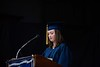 Lucy Duchaney delivers the Valedictory Address at Saint Michael's School graduation on Friday, June 14; KELLY FLETCHER, REFORMER CORRESPONDENT