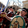 "Marty Covey, of Boulder, at right, stands with the rest of his group holding swords during the St. Patricks Day parade on Sunday, March 13, on 13th Street in Boulder. For more photos and video of the parade go to  <a href=""http://www.dailycamera.com"">http://www.dailycamera.com</a><br /> Jeremy Papasso/ Camera"