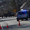 KRISTOPHER RADDER - BRATTLEBORO REFORMER<br /> Police close off a section of Park Avenue, in Keene, N.H., after a man barricaded himself in a residence at 10 Park Ave on Monday, April 23, 2018. The standoff lasted nearly eight and half hours before the man peacefully turned himself in.