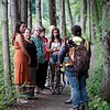 BEN GARVER — THE BERKSHIRE EAGLE<br /> Members of the Stockbridge-Munsee Mohican Tribal Community wind up their one-week annual visit to their ancestral home with a walk along the Housatonic River, Thursday, July 11, 2019.