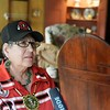 BEN GARVER — THE BERKSHIRE EAGLE<br /> JoAnne Schdler, a member of the Stockbridge-Munsee Mohican Tribal Community wind up her one-week visit to Stockbridge with final recordings for an online video tour of main street, Thursday, July 11, 2019.