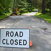 Gillian Jones/North Adams Transcript<br /> Luce Road was closed in Williamstown while crews repaired damage on Thursday morning after a strong storm brought heavy rain to the region on Wednesday night.